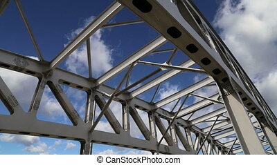 metal structure of the bridge