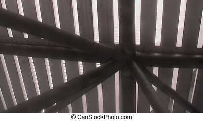Metal structure - View of metallic constructions from the...