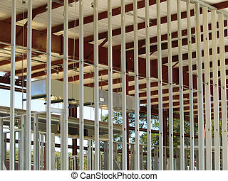 Metal Studs 2 - Interior of a new commercial construction ...