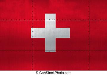 metal, szwajcaria bandera