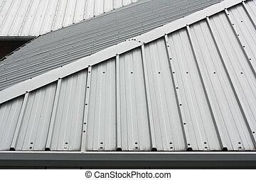 metal, techo, plano de fondo