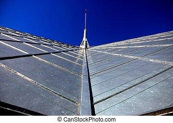 metal, telhado