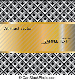 Metal template with texture.vector