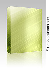 Metal texture box package - Software package box Brushed...