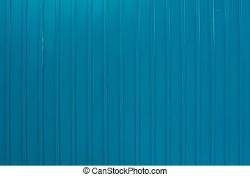 metal., texture, mur ondulé, bleu, fait