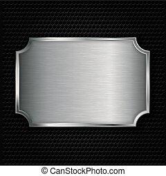 Metal texture plate, vector illustr