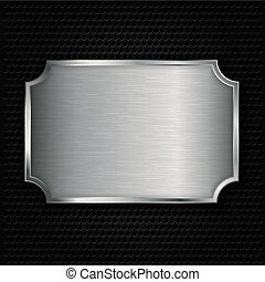 Metal texture plate, vector illustr