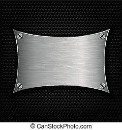 Metal texture plate with screws, ve