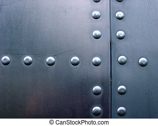 Metal Texture - Rivets in aircraft aluminum