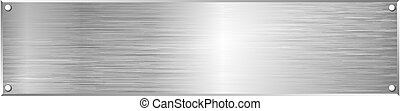 metal textured plaque with copy space