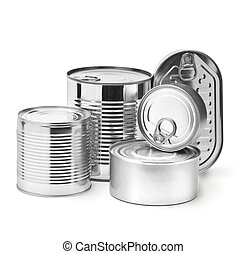 metal tin cans