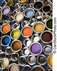 Metal tin cans with color paint