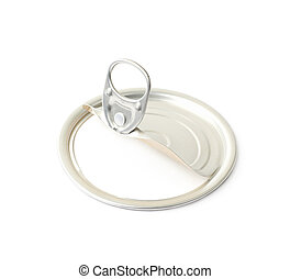 Metal tincan isolated over the white background