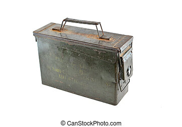 metal toolbox isolated on white background