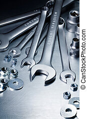 Metal tools - Metal work tools, steel parts.