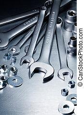 Metal tools - Metal work tools, steel parts.