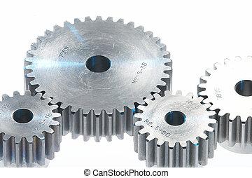 metal toothwheels, - four toothwheels