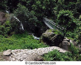 Metal Trekking Bridge at the Lower Himalayas