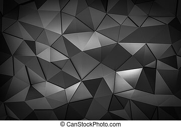 metal triangle mosaic background 3d render