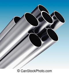 Metal tube - 3d rendering of Metal tube - industrial...