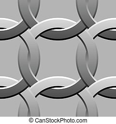 metal twisted rings pattern vector illustration