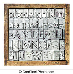 metal type alphabet