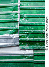 metal verde, folha, experiência.