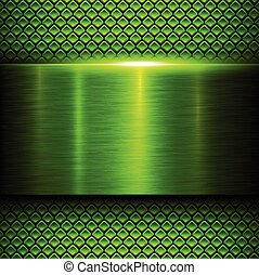 metal verde, fundo, textura