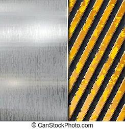 metal, vetorial, aviso, fundo