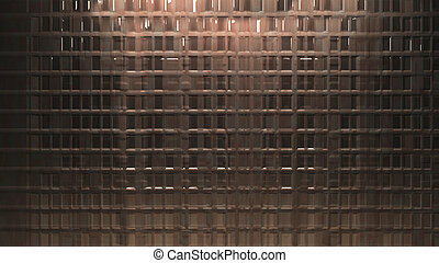 Metal wall background reflection