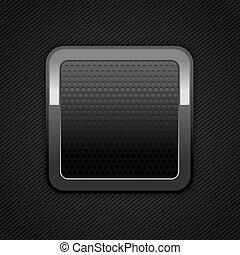 Metal web button