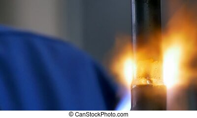 Metal welding in factory. Industria. Manufacture of...