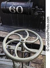 Metal Wheel of Steam Locomotive
