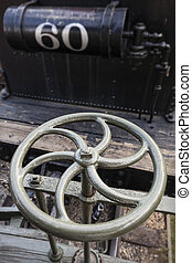 Metal Wheel of Steam Locomotive