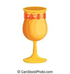metal wine cup icon vector illustration design
