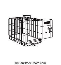 Metal wire cage, crate for pet, cat, dog transportation