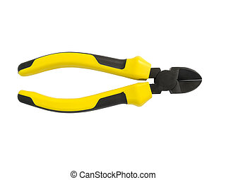 Metal wire cutter. - Metal wire cutter isolated on white ...