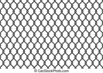 Metal wire mesh seamless pattern