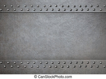 Metal with rivets 3d illustration background