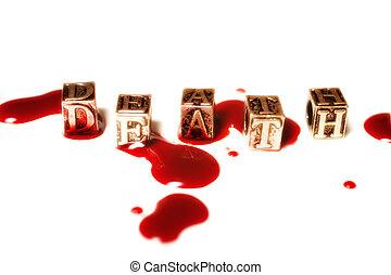metal word death in drops of blood