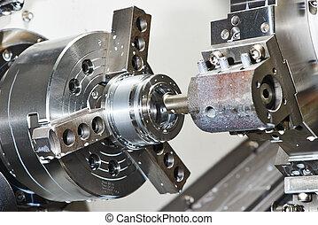 metal work by bore machining on lathe - industrial metal...