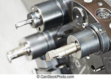metal work machining tools - industrial metal work bore...