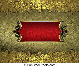 Metal yellow background with vintage edges.