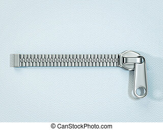zipper - metal zipper isolated ona blue background