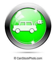 metalen, groene, glanzend, pictogram