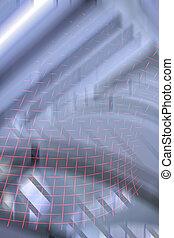 Metalic blurrr - silver background
