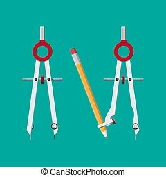 metalic, dibujo, compass.