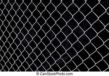 Metalic fence.