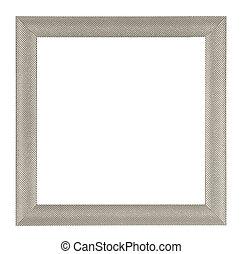 Metalic frame - Metalic square frame isolated on white ...