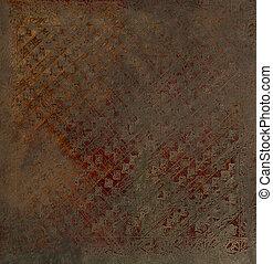 metalic, imprinted, oosters, perkament